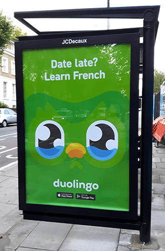 Duolingo billboard advertising